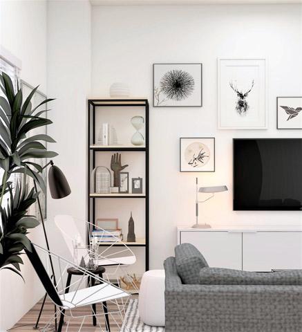 03 Gunakan penyimpanan vertikal - paty interior - 6 Ide Untuk Melengkapi Apartemen Kecil Anda
